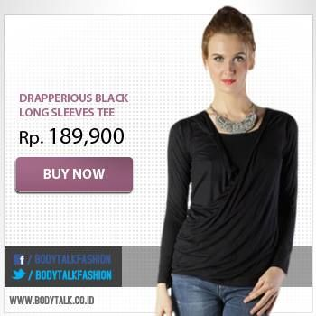 Drapperious Offwhite Long Sleeves Tee IDR 189,900. Available on: www.bodytalk.co.id