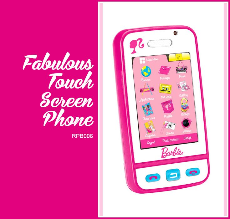 Barbie touch screen phone lexibook for children - Telephone barbie ...