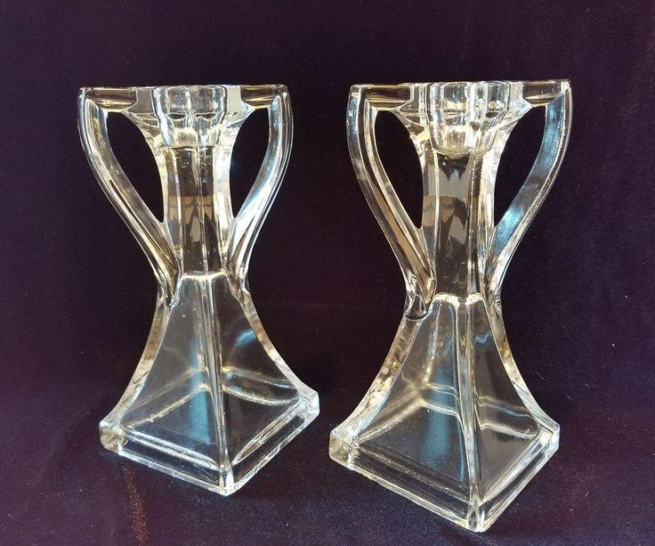 Vintage Glass Art Deco Candle Holder: 10 Best Curious Glassware Images On Pinterest
