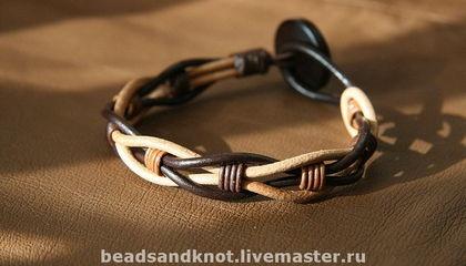 Leather bracelet: Etsy, Leather Jewelry, Ties, Beads, Bracelets Rosso, Leather Bracelets