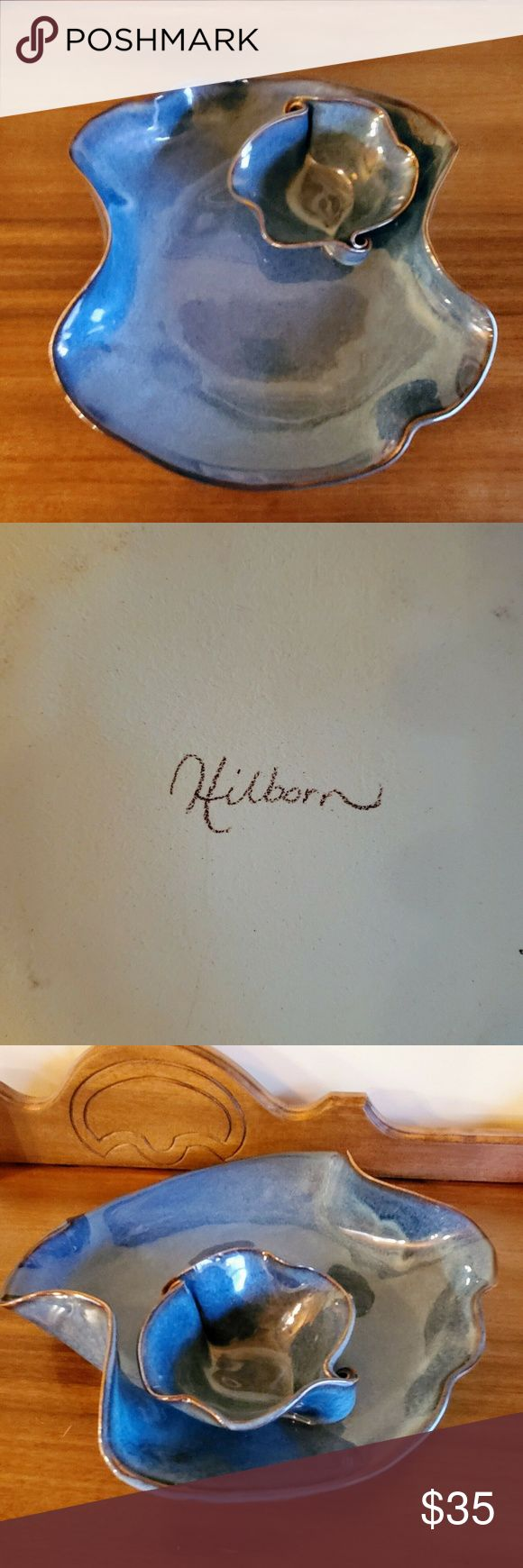 Hilborn Canadian Pottery Large Dip Bowl Up for sale is an