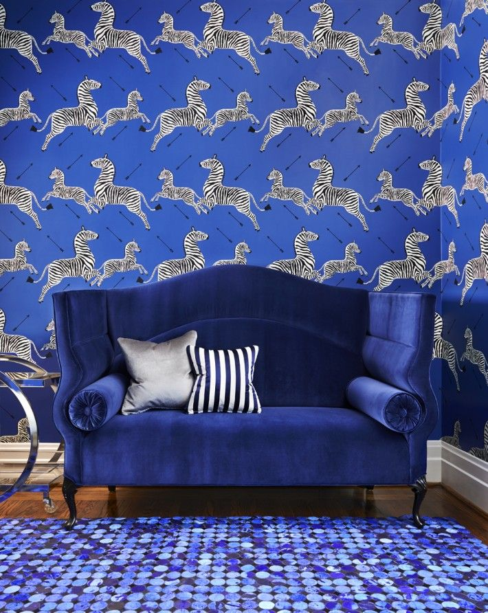 Dynamic blue scene | Interiors by Stacey Cohen
