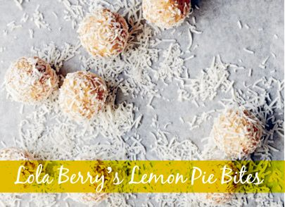 lemon pie bites - easy to make and refined sugar, dairy and gluten free
