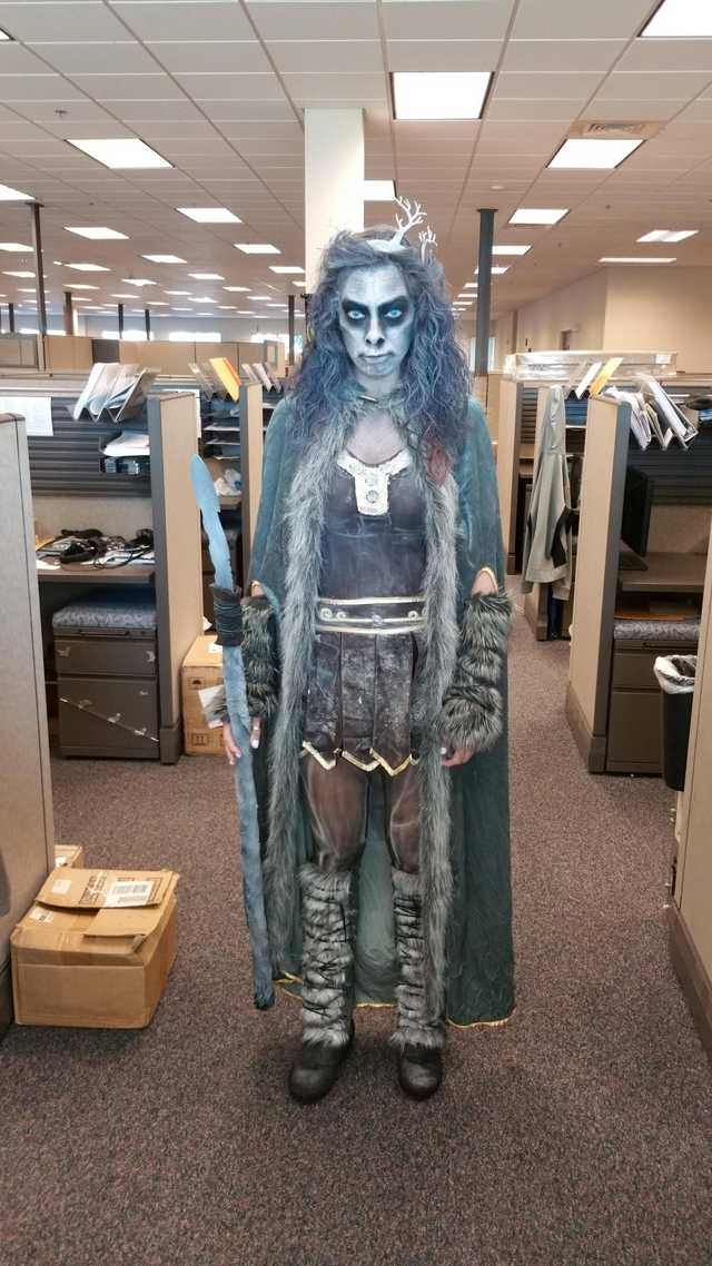 [No Spoilers] Girl at work today. Female White Walker
