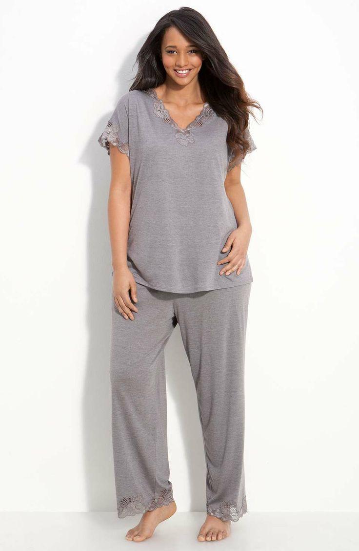 Natori | 'Zen Floral' Pajamas (Plus Size) #natori #plussize #pajamas