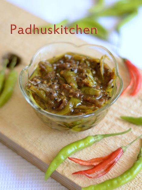 Tangy sweet and hot green chilli pickle
