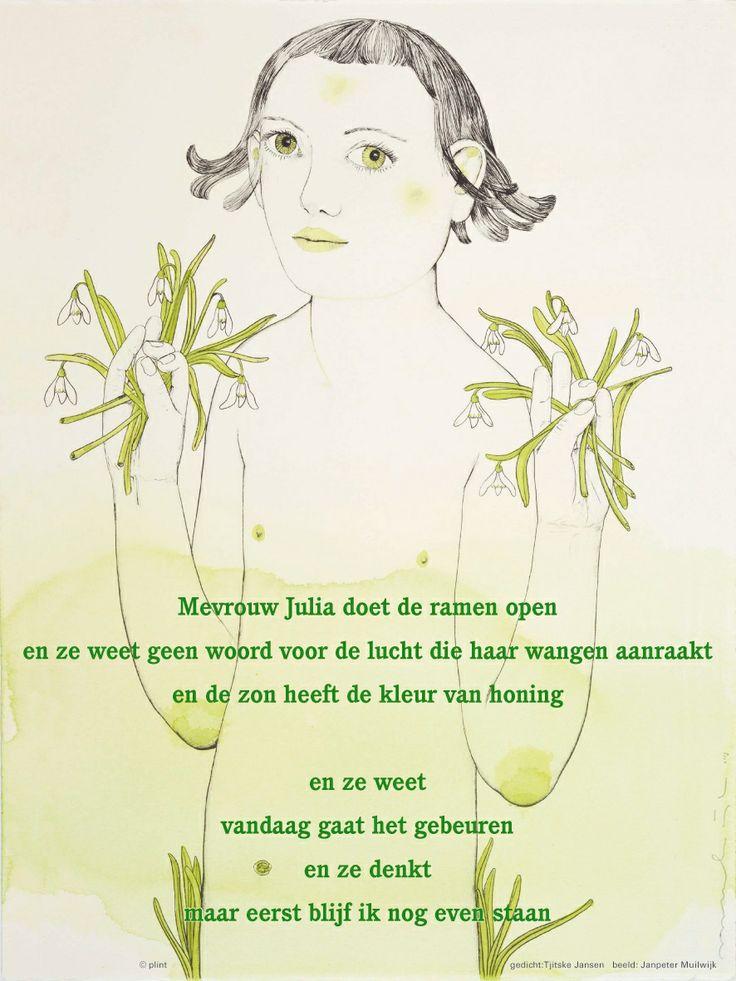 Aan de muur - Poëzieposters - poëzieposter Mevrouw Julia Tjitske Jansen - Plint