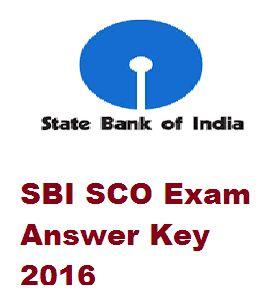SBI SCO Answer Key