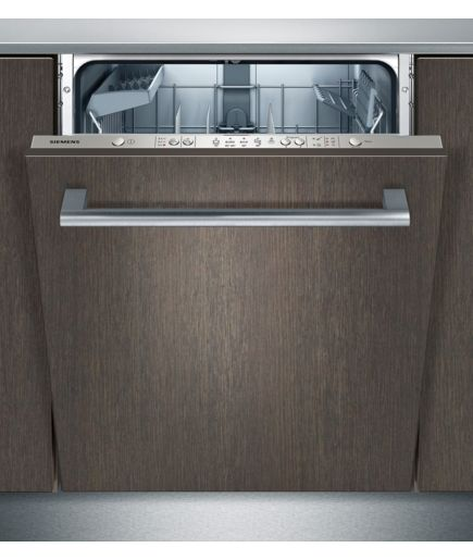 "SN65E010EU €755 Siemens dishwasher integrated, ""inox look"". Top-of-door buttons, no ability to see time remaining. Would need white glass panel for our kitchen. A++, 46dB."