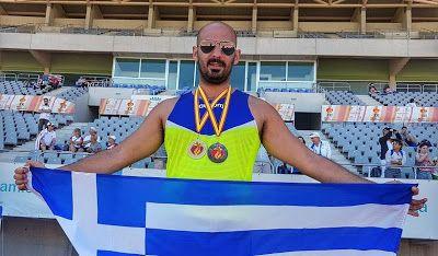ΟΛΥΜΠΙΑΚΗ ΦΛΟΓΑ: Ένα χρυσό κι ένα ασημένιο πήρε ο αθλητής Απόστολος...