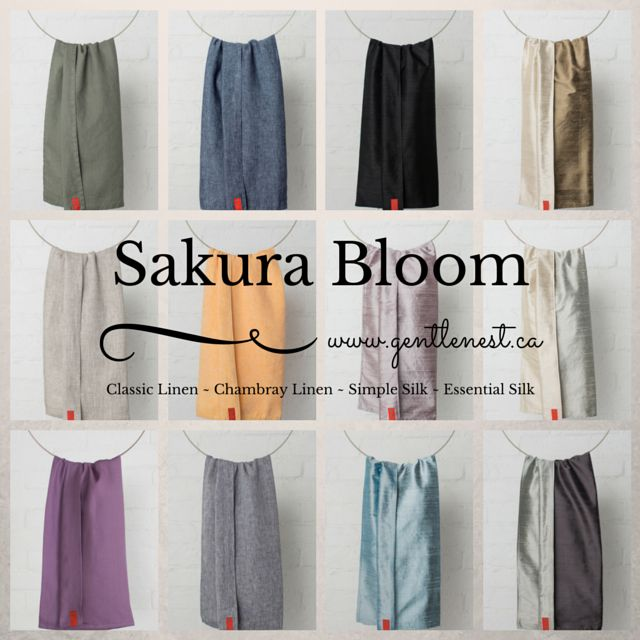 Sakura Bloom baby slings are crafted of fine all-natural fibers: soft linens and lush, hand loomed silks. Newborn - 35lbs.  Each sling is made with care in Massachusetts, USA.
