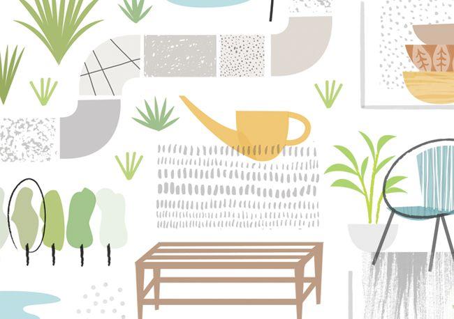 Karen Scarlett  garden design - - - - Sarah Abbott - - -
