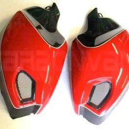 Carbonvani Ducati Monster 696 796 1100 Carbon Fibre Tank Panels Red