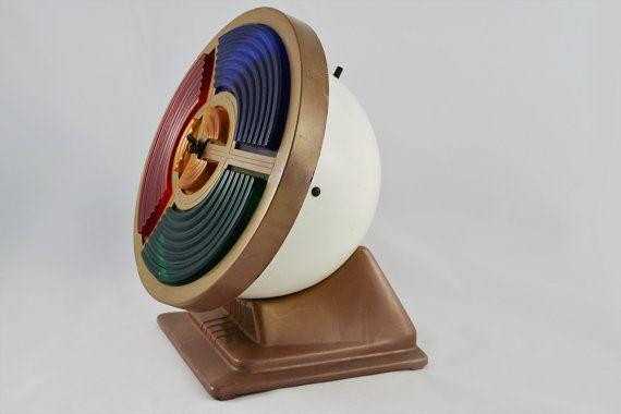 Vintage Rotating Color Wheel Spotlight For Aluminum