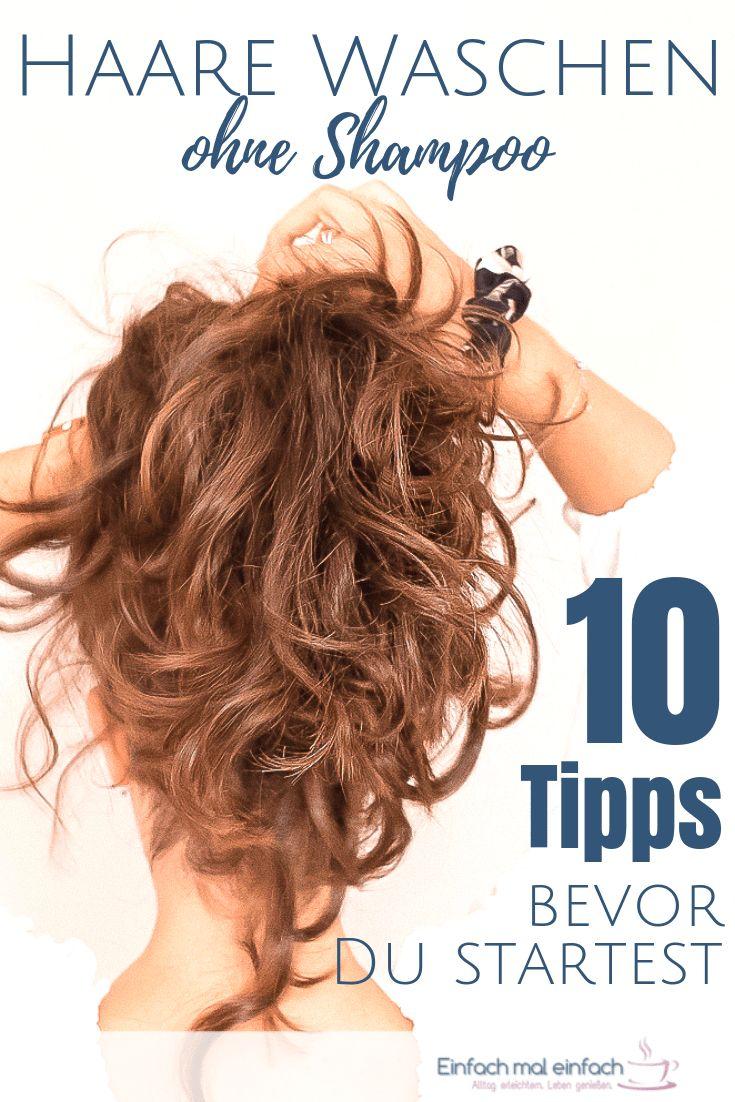 Haare waschen ohne Shampoo – 10 Tipps