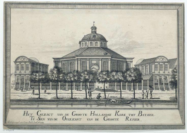 Gezicht op de Grote Hollandse kerk van Batavia, 1769