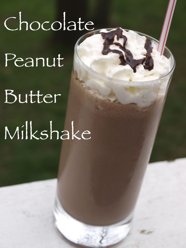 Chocolate Peanut Butter 6 generous scoops chocolate ice cream 1 cup milk 5 tablespoons peanut butter, use smooth peanut butter 2 tablespoons chocolate syrup, (optional)