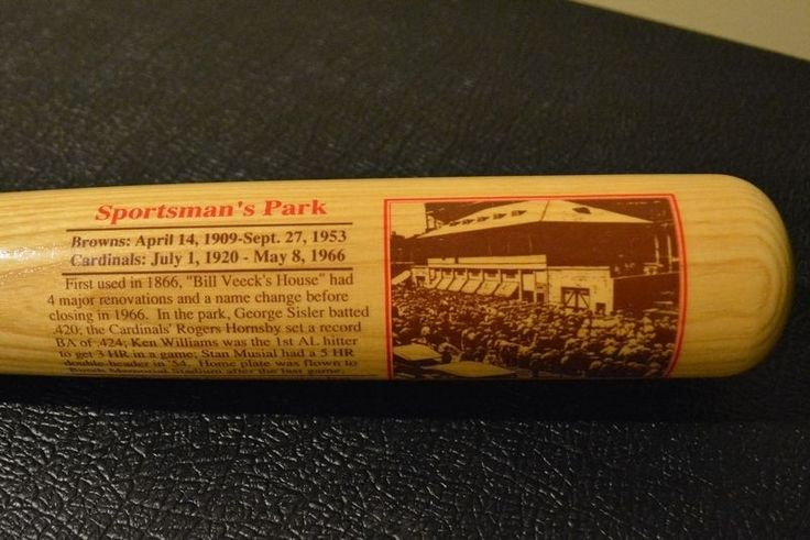 Sportsman's Park Cooperstown Bat Company Limited Edition Stadium Series Bat COA #CooperstownBatCompany #StLouisCardinals