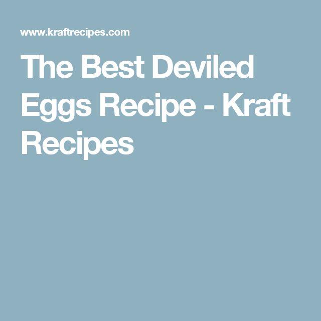 The Best Deviled Eggs Recipe - Kraft Recipes
