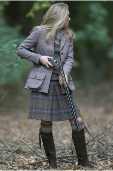 .ah... the cultural differences in hunting... camo vs tweed... I'll take tweed.