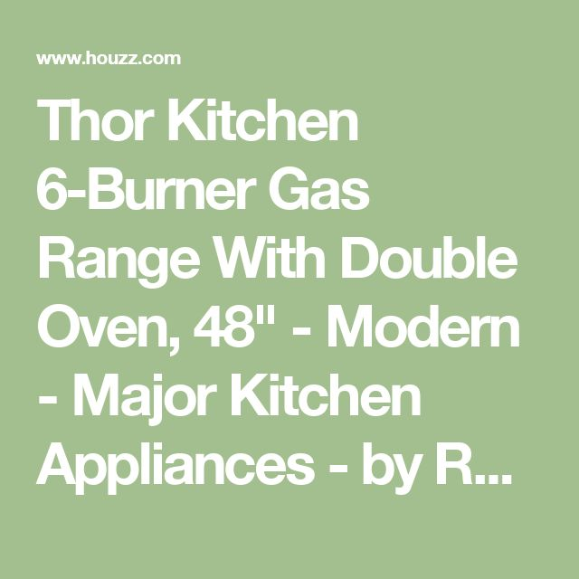 "Thor Kitchen 6-Burner Gas Range With Double Oven, 48"" - Modern - Major Kitchen Appliances - by Royal Genesis Corp"