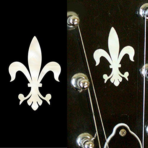 Inlay Sticker Decal Guitar Headstock In MOP Theme  2pcs SET Fleur de Lys * More info could be found at the image url.Note:It is affiliate link to Amazon.