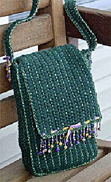 Crocheted Beaded Fringe Handbag: Free Pattern
