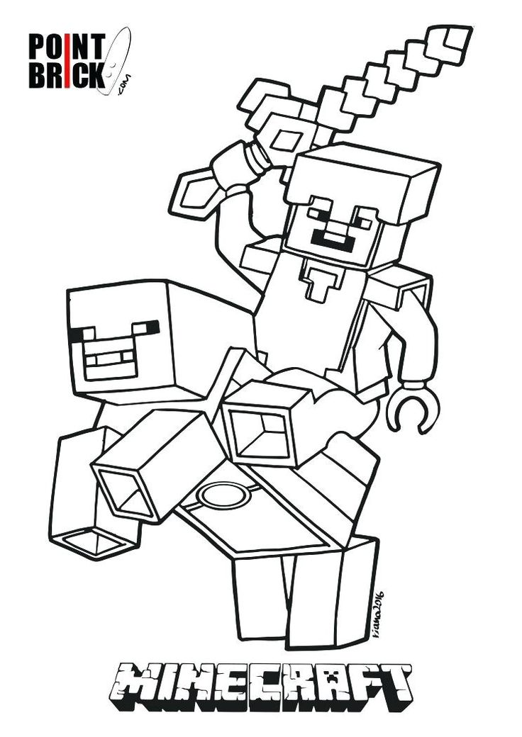 12 Acceptable Coloriage Minecraft Herobrine Stock en 2020