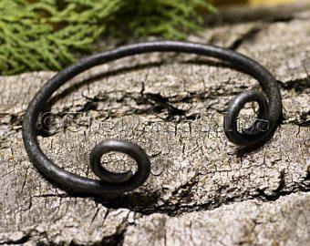 Wikinger Armreif, Handgeschmiedet Antik Mittelalter Armreif aus Edelstahl , Wikinger Armband, Wikinger Armspange, Wikingerschmuck Gothic