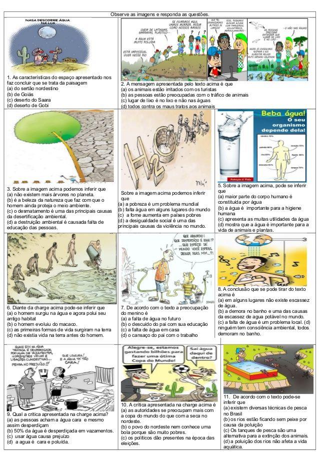 4 Atividade Interdisciplinar Agua Charges E Imagens Com