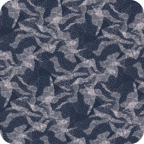 Abstract mountain blue