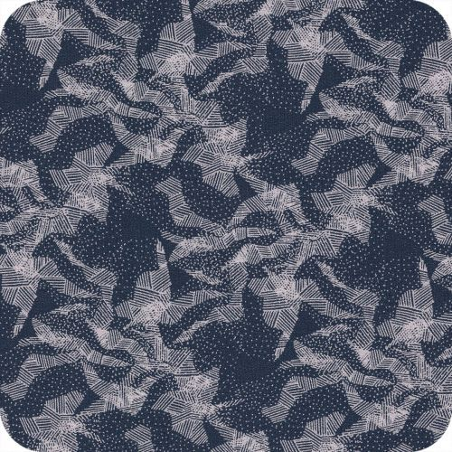 Tissu Abstract mountain blue par Cousette