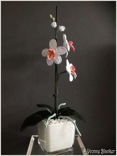 S Alphabet In Heart Een orchidee gehaakt. ...