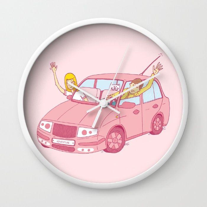 Adventure car Wall Clock