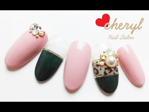 【cheryl シェリル簡単ジェルネイル】ヒョウ柄編 nail art - YouTube