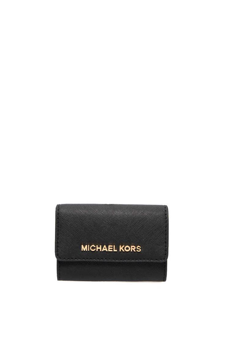Plånbok Jet Set Travel Coin Purse BLACK/GOLD - Michael - Michael Kors - Designers - Raglady
