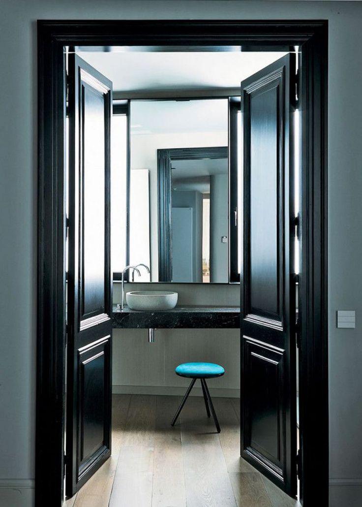 idee deco porte interieur amazing porte interieur avec suspension design couleur luxe relooking. Black Bedroom Furniture Sets. Home Design Ideas