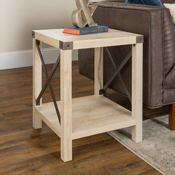 Gracie Oaks Maja End Table Reviews Wayfair Oak End Tables Furniture End Tables #oak #living #room #end #tables