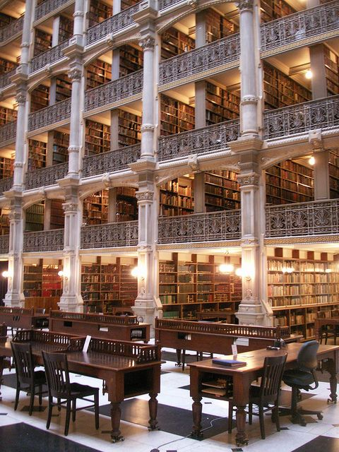Need to visit the George Peabody Library (Baltimore) next time I visit!   ~ Flickr - Photo Sharing!