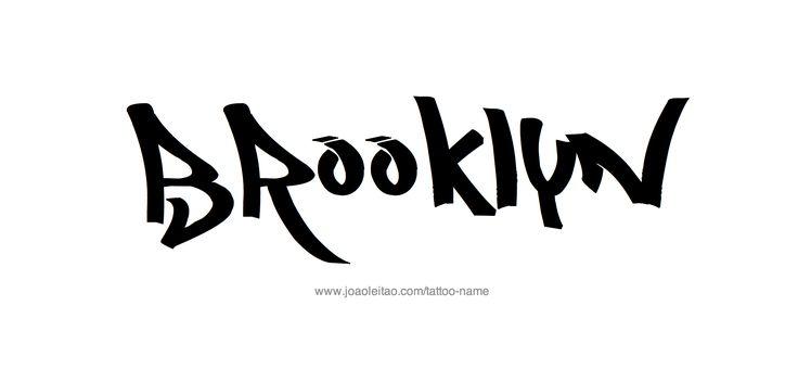 Tattoo Design Name Brooklyn
