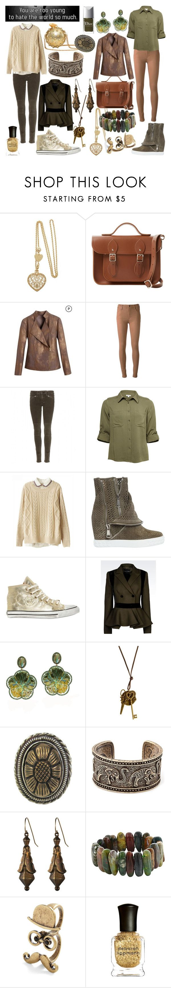 """""""Too Young"""" by ashlynknight ❤ liked on Polyvore featuring The Cambridge Satchel Company, Citizens of Humanity, rag & bone, Chicnova Fashion, Casadei, Black Dioniso, KOTUR, Emporio Armani, Goshwara and Stephen Dweck"""