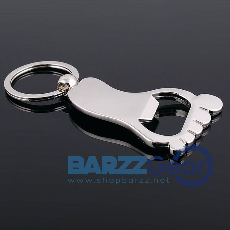Foot Sole Shaped Metal Bottle Opener Keyring Keychain