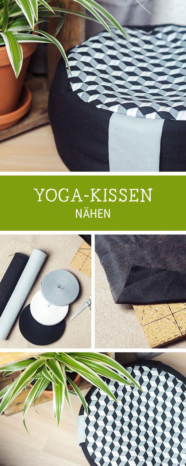 Nähanleitung für ein großes Yogakissen, Geschenkidee für Yogis, Schnittmuster / sewing pattern for a yoga cushion, handmade giftidea for yogis via DaWanda.com