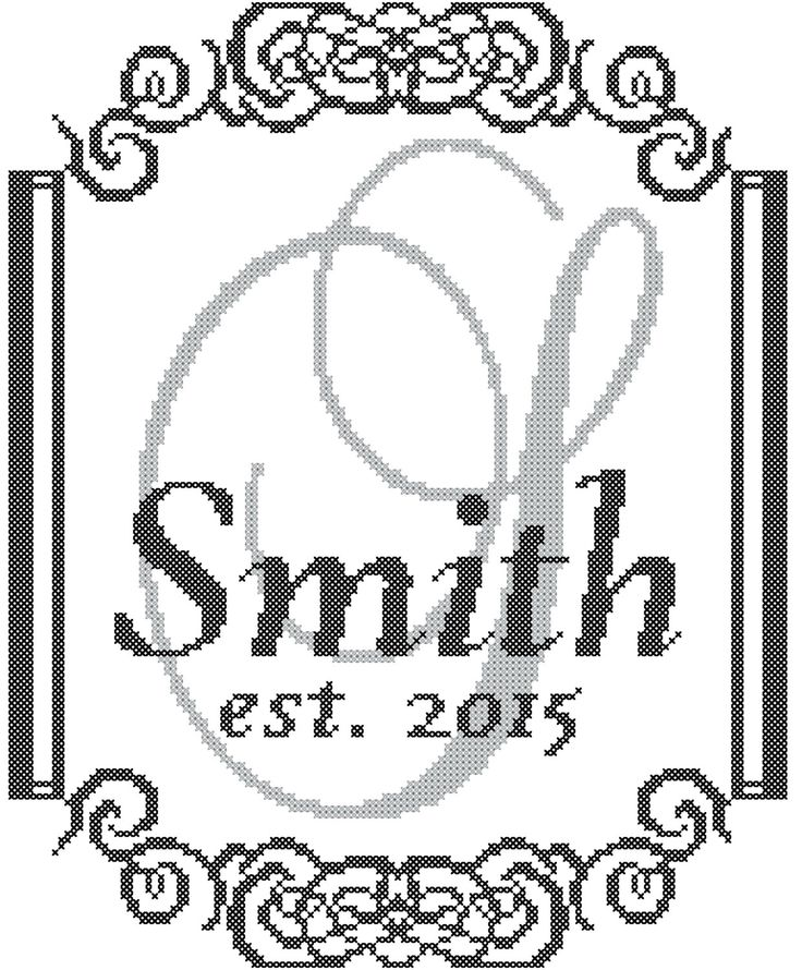 Modern Monogram Cross Stitch Pattern with от oneofakindbabydesign                                                                                                                                                                                 More