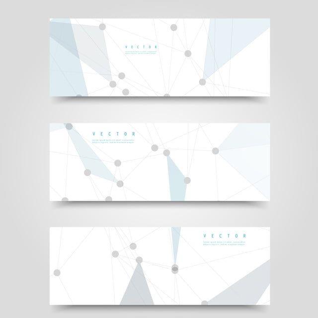 Vector Set Of Horizontal Network Banners In 2020 Website Banner Design Business Banner Banner