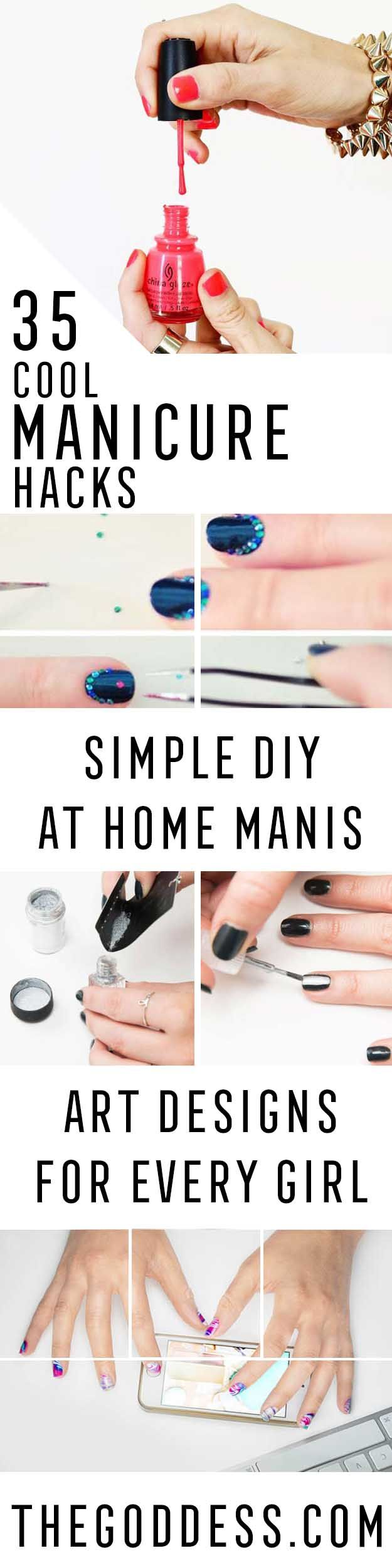 Cool Manicure Hacks - Amazing DIY Manicure Hacks You can Do At Home To Achieve The Same Style You Would Pay For. Whether Using Gel Or Acrylic, These Manicure Tips And Tricks Are Explained In Step By Step Tutorials To Help You Get The Nail Tips Every Girl Want. Life Changing Products And Tutorials For Awesome Nailart, Art Designs, And Simple Ideas And Nail Art You To Get You Looking Like The Salons Would. Try These Beauty Tricks And Nail Hacks For The Perfect Manicure. Tricks For Painting…