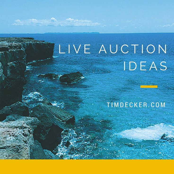 Live Auction Ideas for your next charity event - Having a varied assortment of live auction items is the key to having a successful live auction. Here are some ideas to get you started. | Tim Decker Speed Painter & Event Entertainer | Event Planning Ideas | Benefit & Fundraiser Tips | #eventplanning #eventplanner http://www.timdecker.com/blog/live-auction-ideas-charity-event/