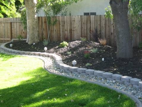 Small Rock Edge Edges And Borders Pinterest Yards