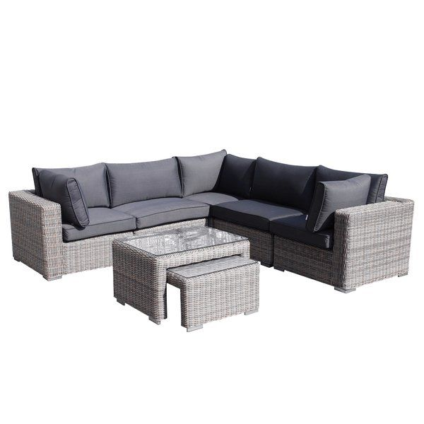 Kirch 5 Seater Corner Sofa Set Corner Sofa Set Sofa Set Rattan Corner Sofa