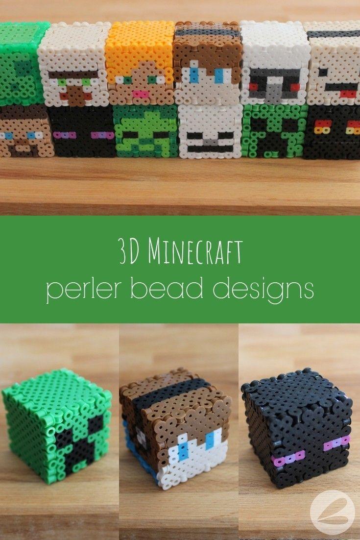Perler Beads Minecraft 3d Slime Google Search 10